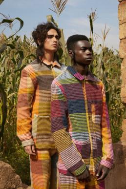 Models in Rwanda cornfield