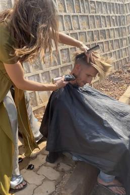 Hairdresser on the street