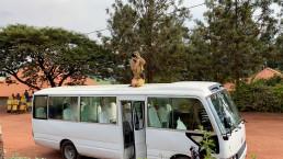 Photographer on a bus Rwanda