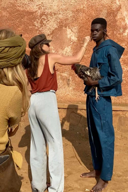 Photoshoot behind the scenes in Africa