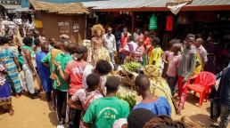 Crowd market Rwanda