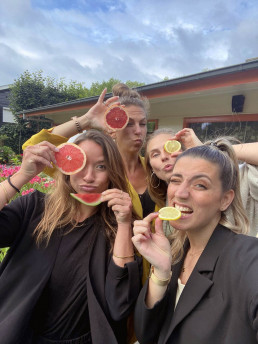 Fruits funny selfie