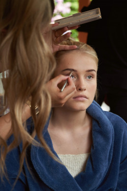 Behind the scenes make-up