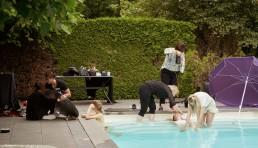 Pool shoot behind the scnenes