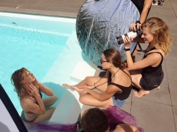 Behind the scenes pool beauty photoshoot by zilla