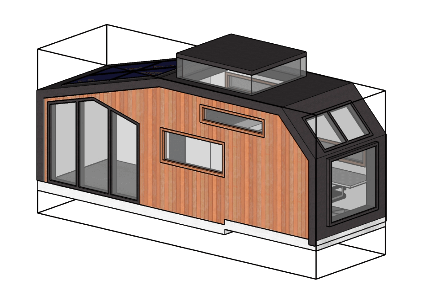 Tiny House sketch - Architect Peter Arts, by Zilla