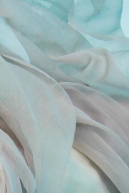 Fabric in turqoise water