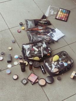 Make-up behind the scenes