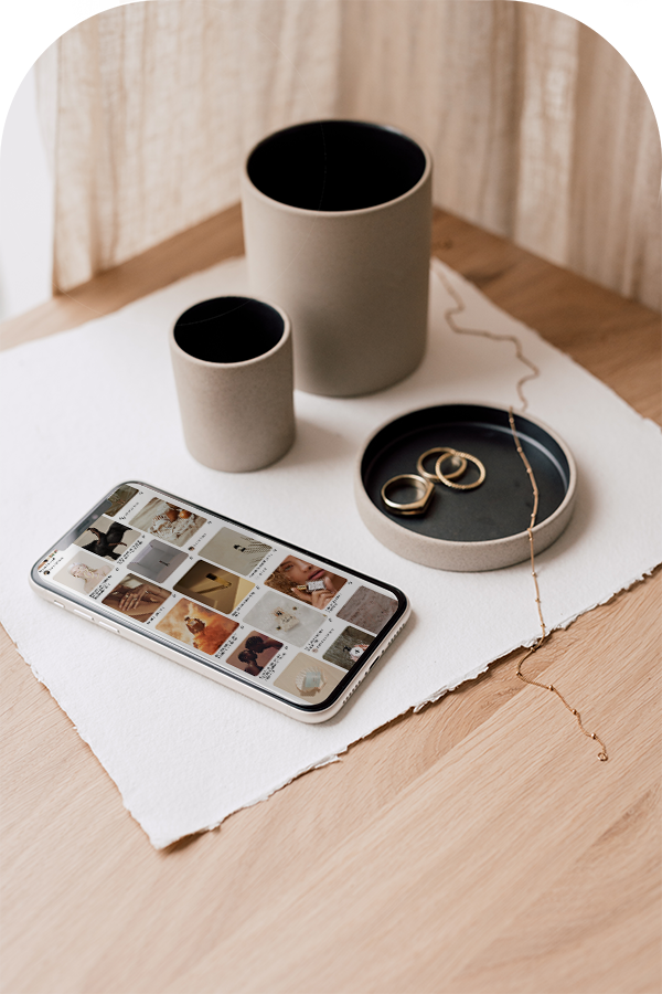 Pinterest moodboard product photos