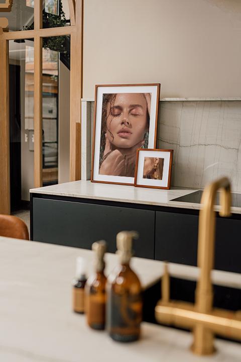 Beauty shoot framed